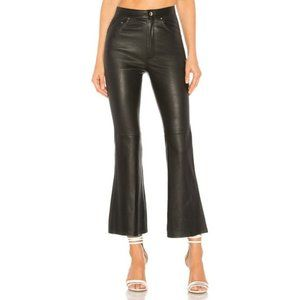 Lovers + Friends 100% Leather Black Kick Pants NWT